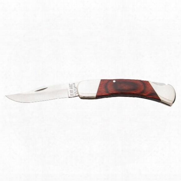 "Bear & Son Cutlery Rosewood Professional Lockback Knife, 3.75"" Blade"
