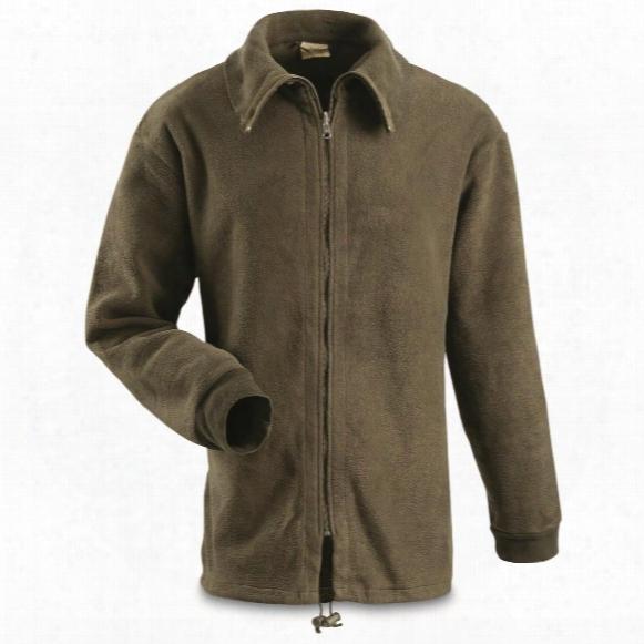 Belgian Military Surplus Heavyweight Fleece Jacket, Used