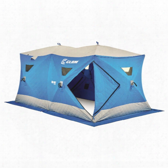 Clam Big Foot Xl6000t Garage Ice Fishing Shelter, 6-8 Person