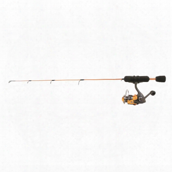 """Clam Dave Genz 24"""" Power Stick Series Spring Bobber Ice Rod And Reel Combo, Ultra-light Action"""