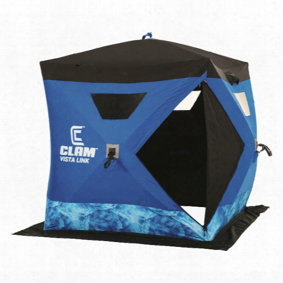 Clam Vistalink Hub Ice Fishing Shelter, 2-3 Person