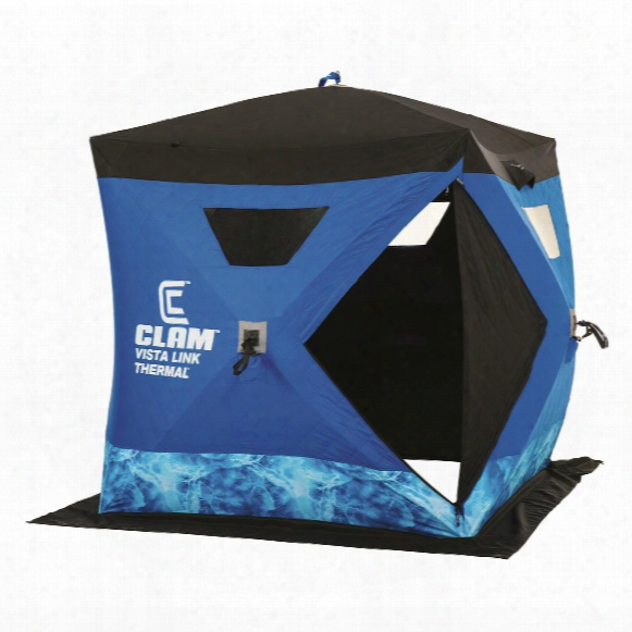 Clam Vistalink Thermal Hub Ice Fishing Shelter, 2-3 Person