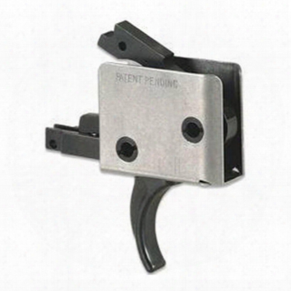 """Cmc Triggers Ar-15 Drop-in Curved Trigger, .154"""" Small Pin, 2-stage Match"""