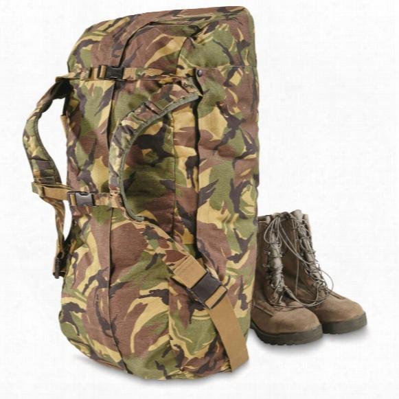 Dutch Military Surplus Dpm Camo Pilot's Bag With Shoulder Straps, Used