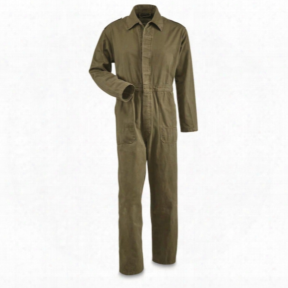 Dutch Military Surplus Olive Drab Cotton Coveralls, Used