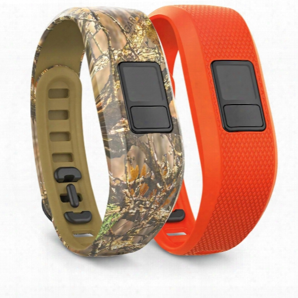 Garmin Vivofit 3 Bands, 2 Pack, Camo And Blaze Orange