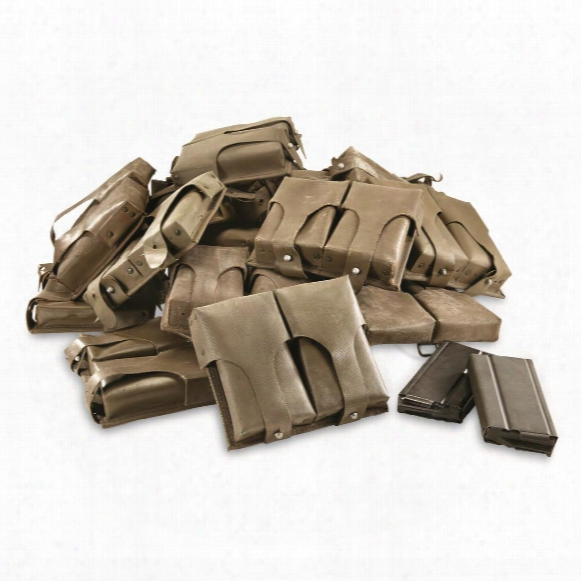 German Military Surplus G3 Double Mag Pouches, 20 Pack, Used