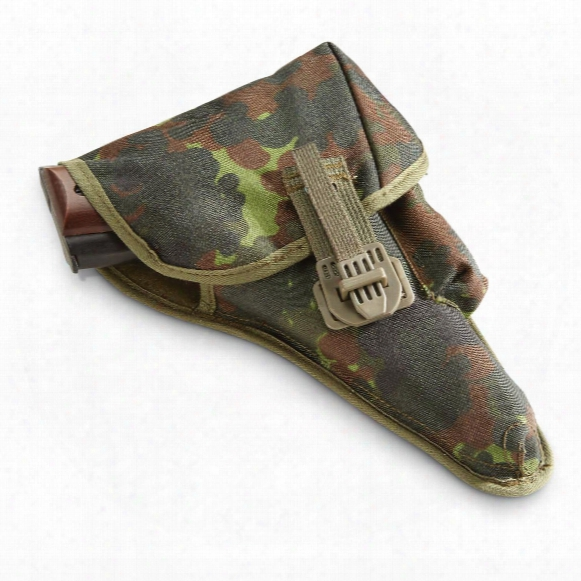 German Military Surplus P38 Holster, Flecktarn Camo, New