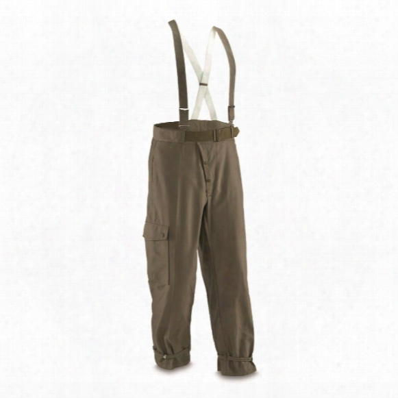 German Military Surplus Pants With Suspenders, New