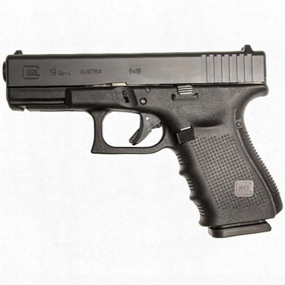 "Glock 19 Gen 4, Semi-automatic, 9mm, 4"" Barrel, 10 Rounds"