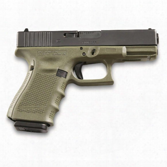 "Glock G19 Gen4, Semi-automatic, 9mm, 4.01"" Barrel, 15+1 Rounds"