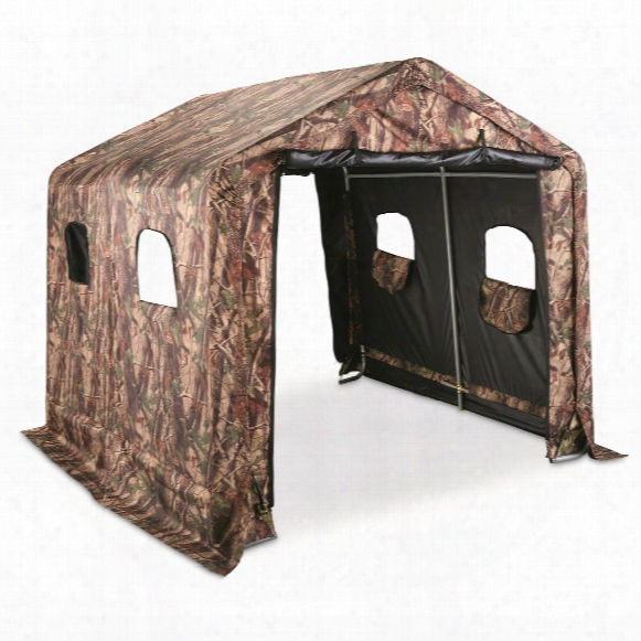 Guide Gear Camo Hunting Shed, 8' X 8'