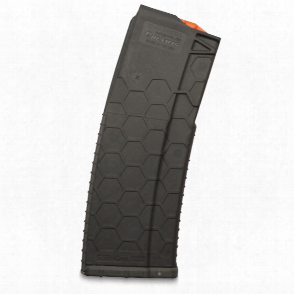 Hexmag Ar-15, 5.56 Nato/.223 Remington/.300 Aac Blackout Caliber Magazine, 30 Rounds, Gray