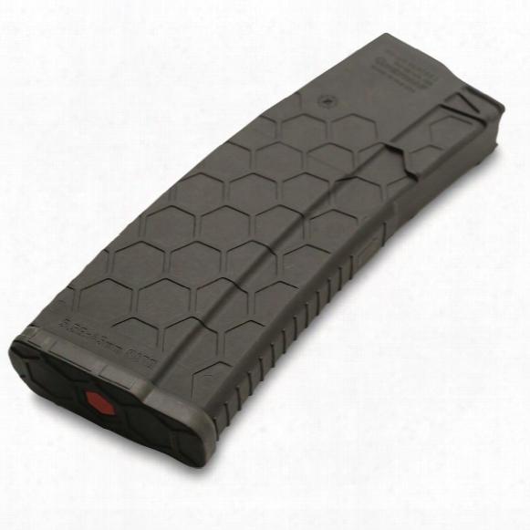 Hexmag Ar-15, 5.56x45mm/.223 Remington/.300 Aac Blackout Caliber Magazine, 30 Rounds, Black