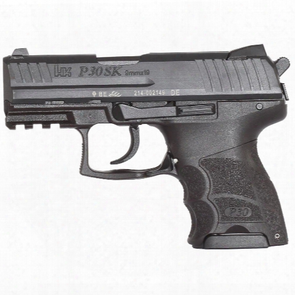 "Hk P30sk V3 Subcompact, Semi-automatic, 9mm, 3.27"" Barrel, 10+1 Rounds."