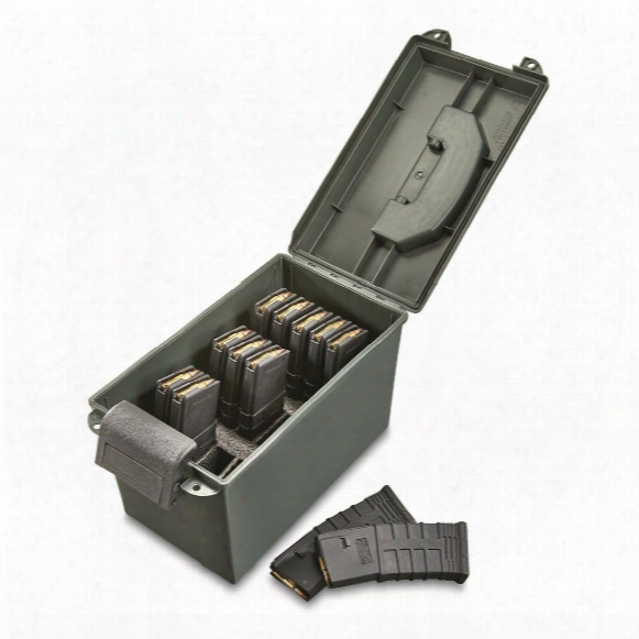 Hq Issue Tactical Magazine Can, .223/5.56 Caliber, Holds 15 Loaded 30 Round Magazines