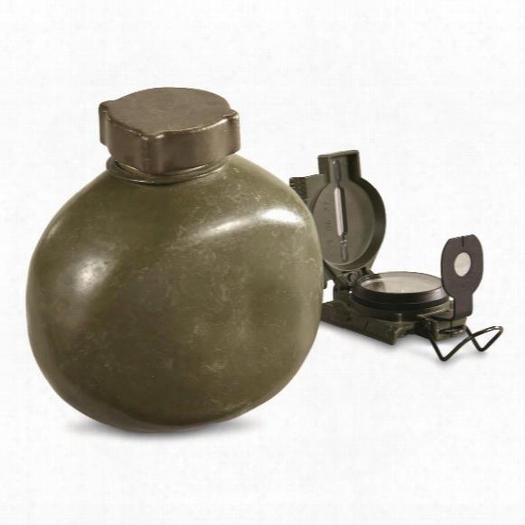 Hungarian Military Surplus 1 Quart Aluminum Canteen, New