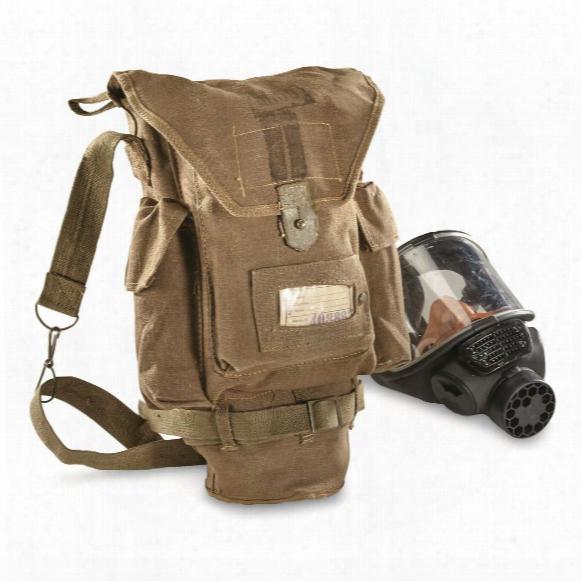 Italian Military Surplus Gas Mask Shoulder Bag, Like New