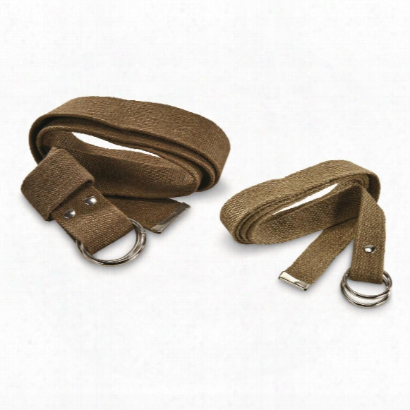 Italian Military Surplus Ww2 Era Belts, 2 Pack, Used