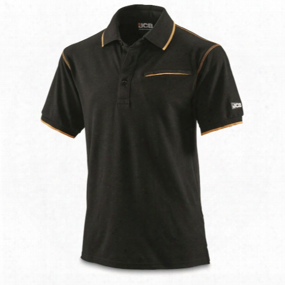 Jcb Military Contractor Workwear Pocket Polo Shirt, New