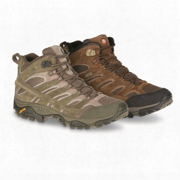 Merrell Men's Moab 2 Waterproof Mid Hiking Boots