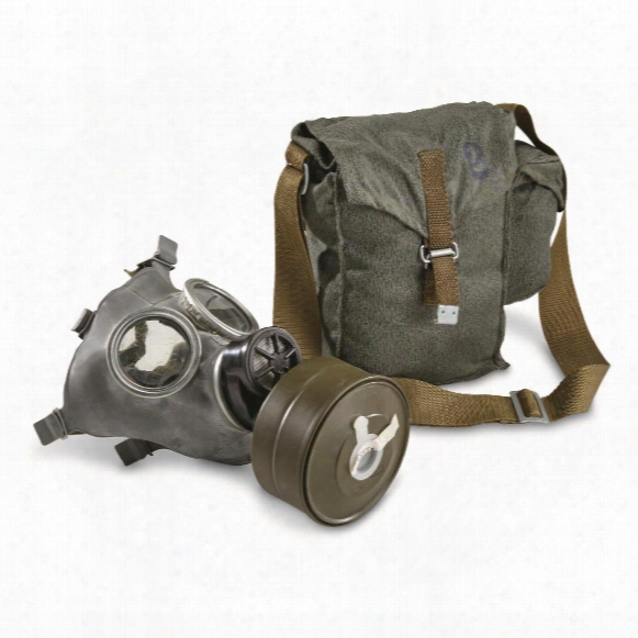 Polish Military Surplus Gas Mask With Bag And Filter, New