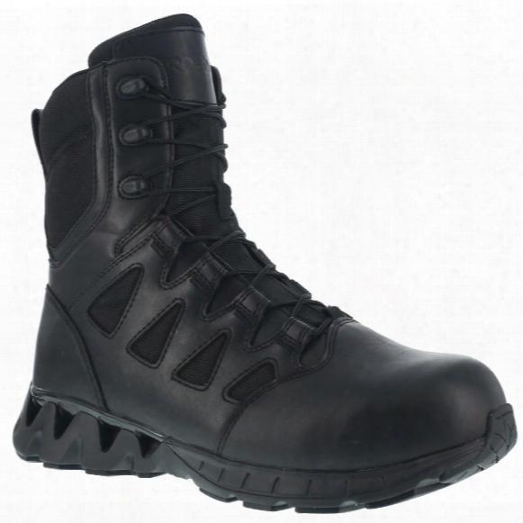 """Reebok Duty 8"""" Zigkick Sz Men's Composite Toe Tactical Boots, Side Zip"""