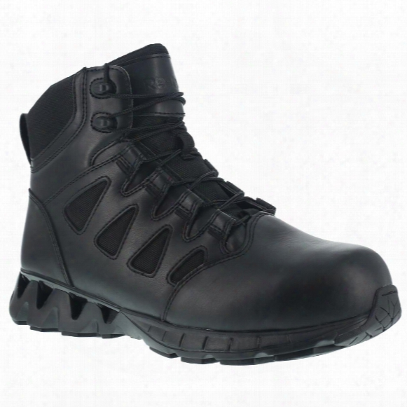 "Reebok Women's Duty 6"" Zigkick Tactical Sz Composite Toe Boots, Side Zip"