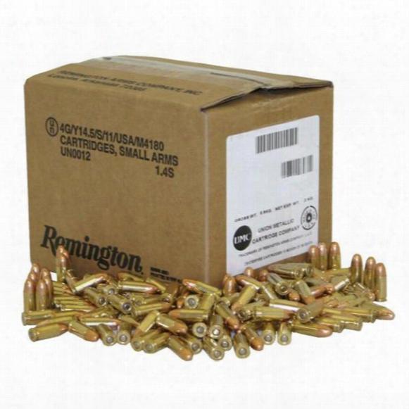 Remington, 9mm Luger, Fmc, 115 Grain, 1,000 Rounds, Loose Bulk