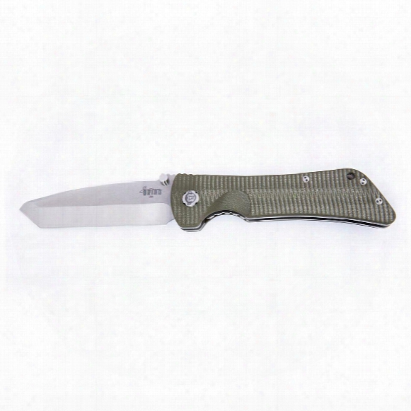 "Southern Grind Bad Monkey G10 Tanto Tumbled Satin Folding Knife, 4"" Blade"