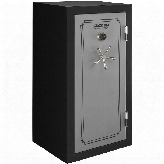Stack-on Total Defense 36-40 Gun Safe, Combination Lock, Silver / Black