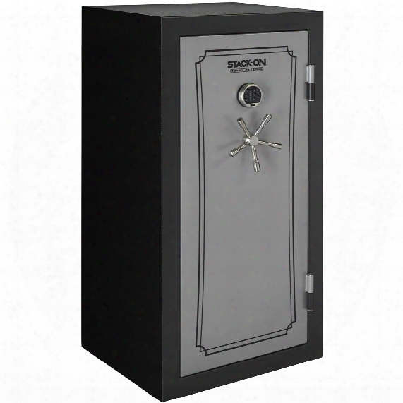 Stack-on Total Defense 36-40 Gun Safe, Electronic Lock, Silver / Black