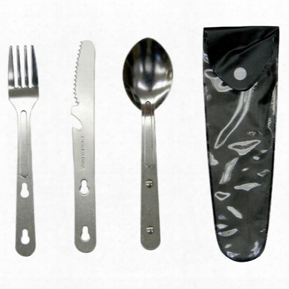 Stansport Camping Utensils, Knife / Fork / Spoon Set