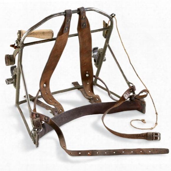 Swedish Military Surplus Wire Spool Backpack Holder, Used