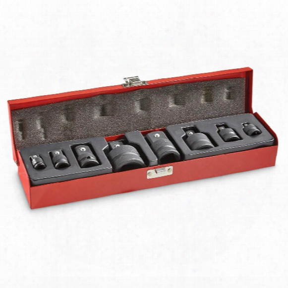 "T & E Tools Impact Socket Adapter Set 1/4""-1, 8 Piece"