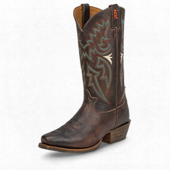 Tony Lama Men's Chocolate Frio 3r Snip Toe Cowboy Boots