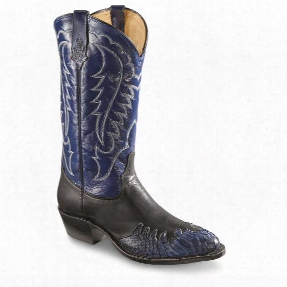 Tony Lama Men's Python Wingtip Round Toe Western Boots