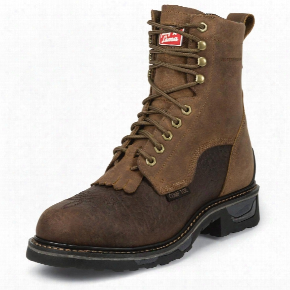 Tony Lama Men's Sierra Badlands Tlx Western Waterproof Comp Toe Work Boots