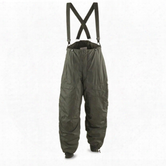 U.s. Air Force Military Surplus Ecw F1b Pants With Suspenders, New