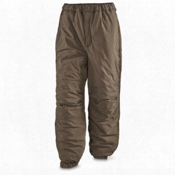 U.s. Military Surplus Level 7 Primaloft Ecw Waterproof Pants, New