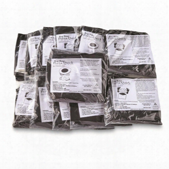 U.s. Military Surplus Porta Relief Biodegradable Toilet Bags, New, 12 Pack