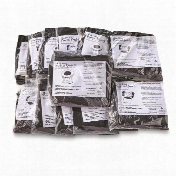 U.s. Military Surplus Porta Relief Biodegradable Toilet Bags, New, 12 Pack