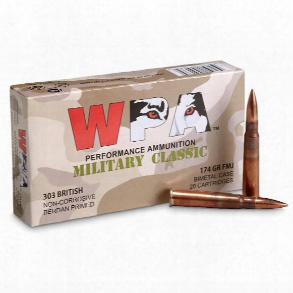 Wolf Wpa Military Classic, .303 British, Fmj, 174 Grain, 140 Rounds