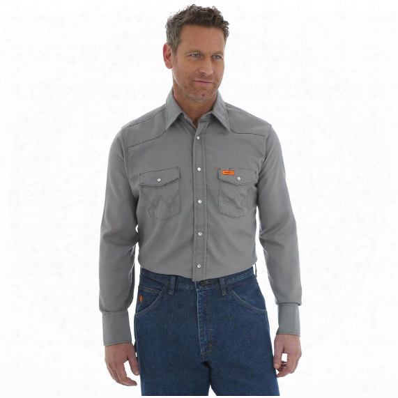 Wrangler Men's Basic Flame Resistant Shirt
