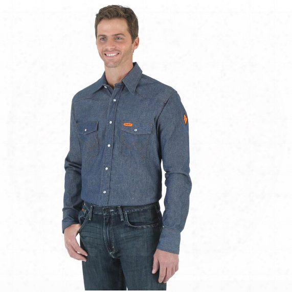 Wrangler Men's Flame Resistant Denim Shirt
