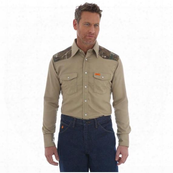 Wrangler Men's Western Flame Resistant Camo Shirt