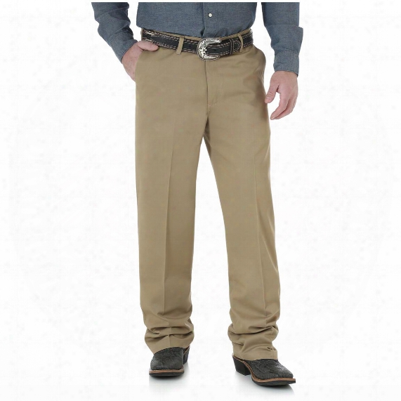 Wrangler Riata Men's Flat Front Relaxed Casual Pant