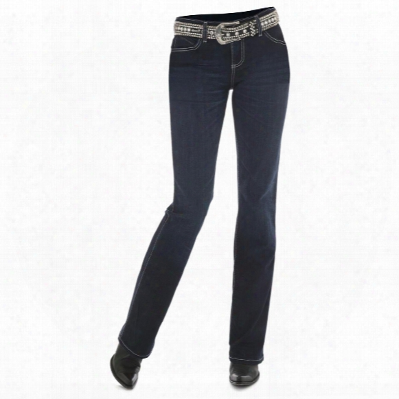 Wrangler Women's Cowgirl Cut Ultimate Riding Jean,q-baby, Booty Up, St Wash