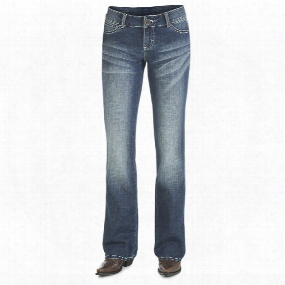 Wrangler Women's Premium Patch With Booty Up Technology Jeans