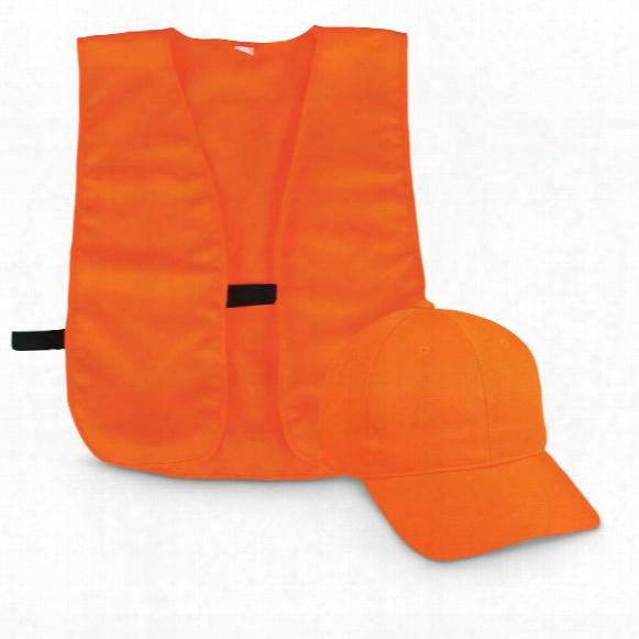 Youth Outdoor Cap Co. Blaze Orange Vest And Cap Combo